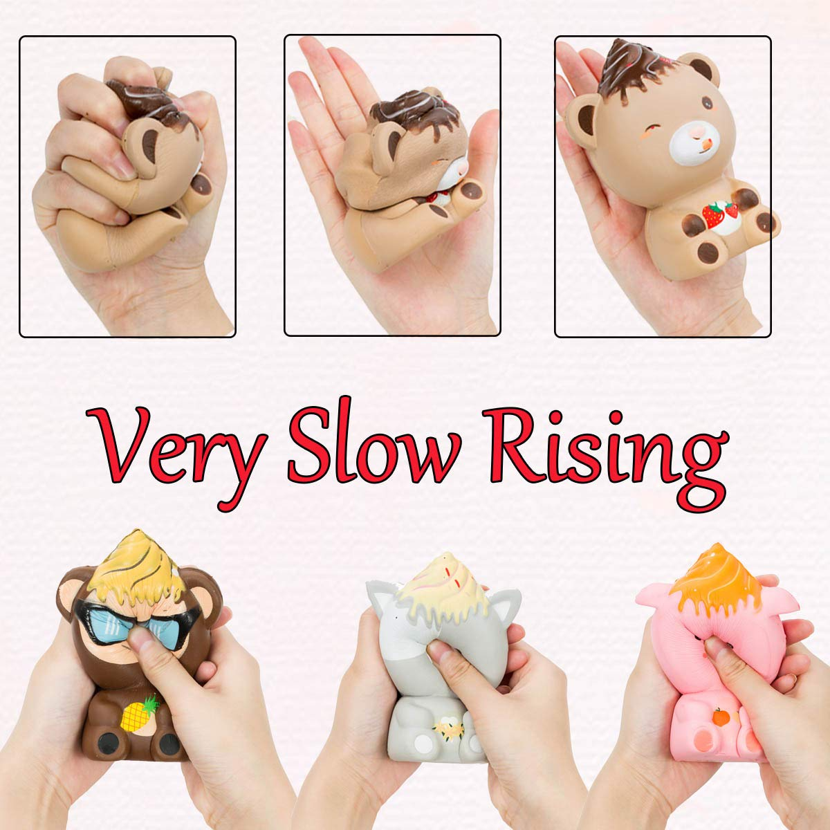 AILIMY Squishies Animal Ice Cream Cup Squishy Cute Cream Scented Soft Slow Rising Great Sensory Toys for Girls,Boys,Kids (8 Random Colors)