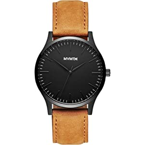 MVMT 40 Series Watches | 40 MM Mens Analog Watch | Leather Wristband