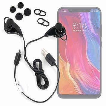 DURAGADGET Auriculares inalámbricos en Color Negro para Smartphone Xiaomi Mi 8, Xiaomi Mi 8 SE: Amazon.es: Electrónica