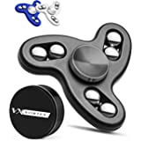 Vortex Spinners - Certified Upgraded High Speed Fidget Spinner Toy with Additional R188 Bearing in Premium Metal Gift Box, 2-5 min of Spin Time (black)