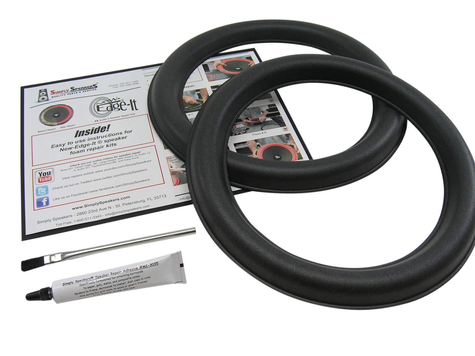 JL Audio 12'' Foam Speaker Repair Kit, 12W6v2-D4, FSK-12JLv2 (Pair) by Simply Speakers