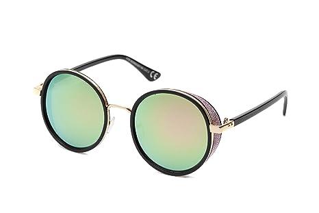 Gafas de Sol Retro con Marco Grueso Redondo para Hombre y ...