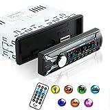 KYG Radio Coche Extraible con Bluetooth FM MP3 Manos Libres