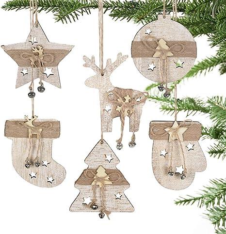 Reindeer Names Wooden Ornament Set,