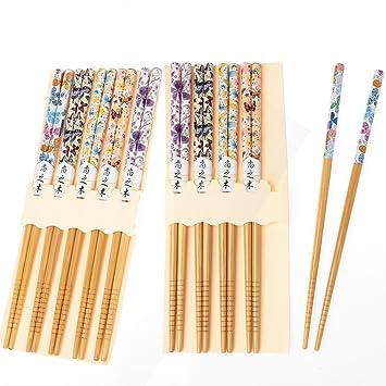 013 Chopsticks 10 Paar Stäbchen Eßstäbchen Holz Essstäbchen Stoffbeutel