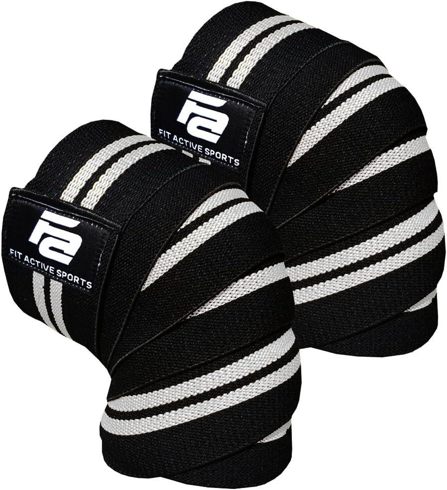 Fit Active Sports 膝 サポーター 関節靭帯保護 バレーボールなどの高負荷がかかるスポーツ向け フリーサイズ 1ペア 全4色 白