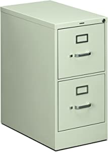 HON Two-Drawer Filing Cabinet- 510 Series Full Suspension Letter File Cabinet, 29 by 15-inch, Light Gray (H512)