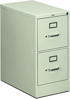 product image for HON Two-Drawer Filing Cabinet- 510 Series Full Suspension Letter File Cabinet, 29 by 15-inch, Light Gray (H512)