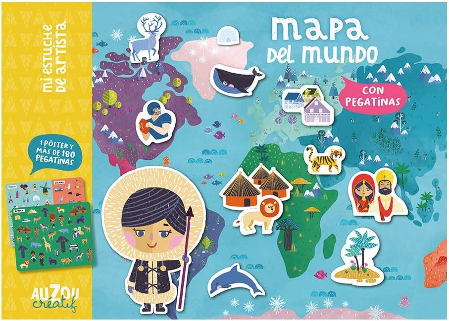 Estuche artista: Mapa del mundo. (Mi estuche de artista): Oreski, Antoana, Oreski, Antoana: Amazon.es: Juguetes y juegos