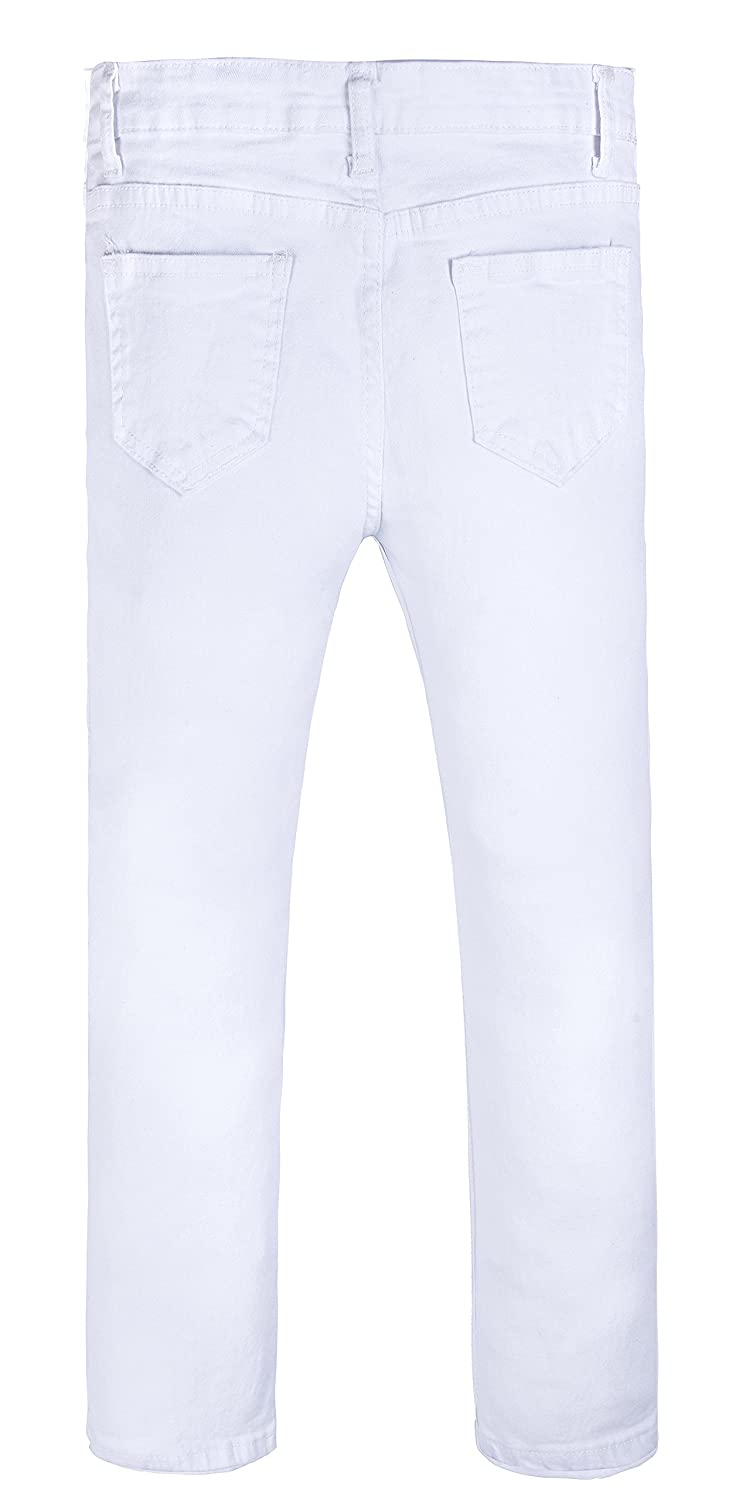 9b789daf05e Amazon.com  GALMINT Girls Fashion Skinny Fit Jeans Distressed Ripped Hole  Denim Pants Jegging  Clothing
