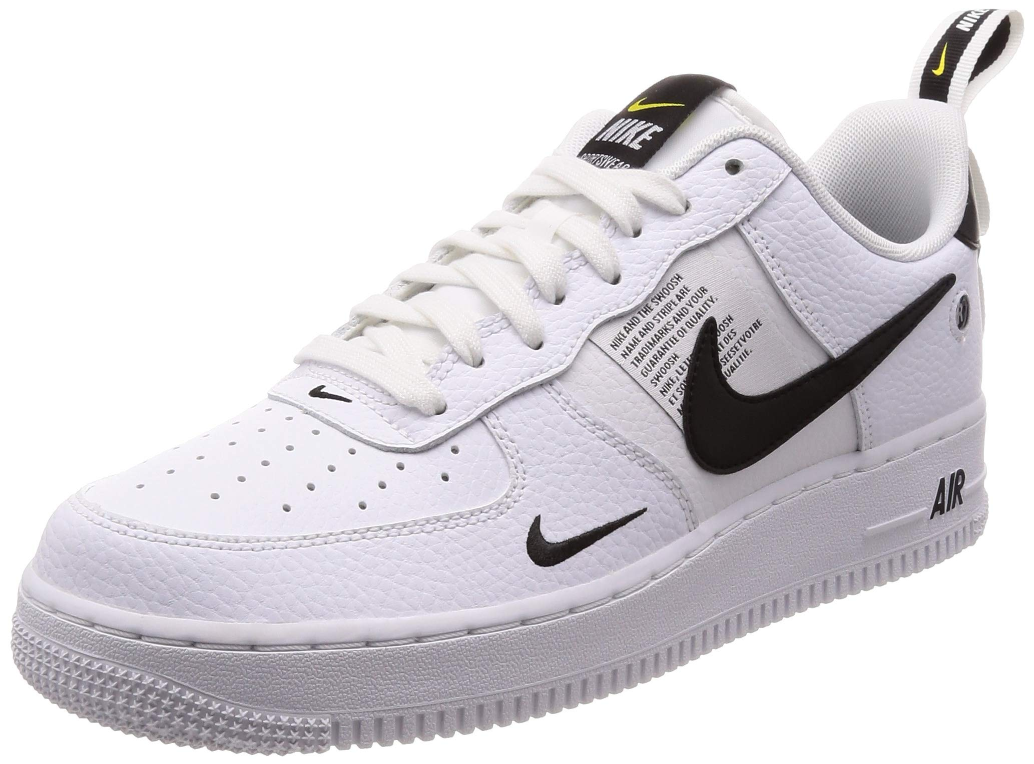huge selection of 651a3 bed54 Galleon - NIKE Men s Air Force 1 07 LV8 Utility, White White-Black-Tour  Yellow, 12 M US