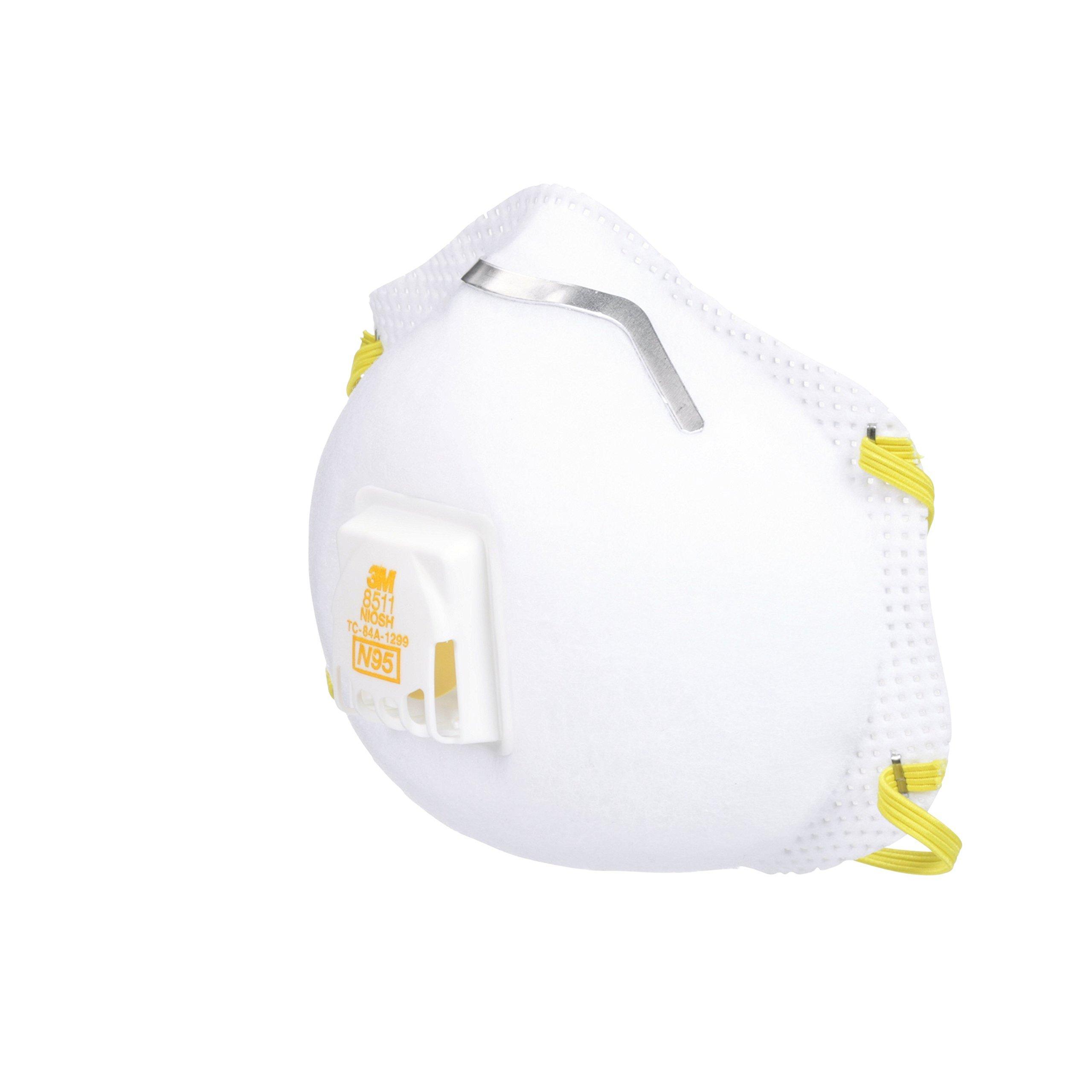 3m 8511 respirator n95 cool flow valve (10-pack) uk