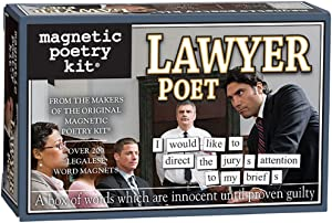 Magnetic Poetry - Lawyer Poet Kit - Words for Refrigerator - Write Poems and Letters on The Fridge - Made in The USA