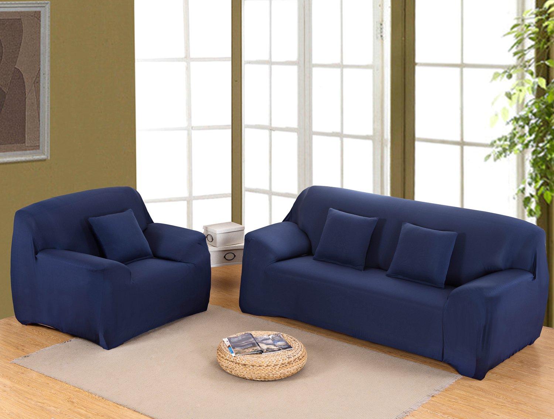 MeOkey Funda para Sofá Cubierta de Sofá Poliéster Elástico para Sofa de 4 Plaza (235-300 CM)