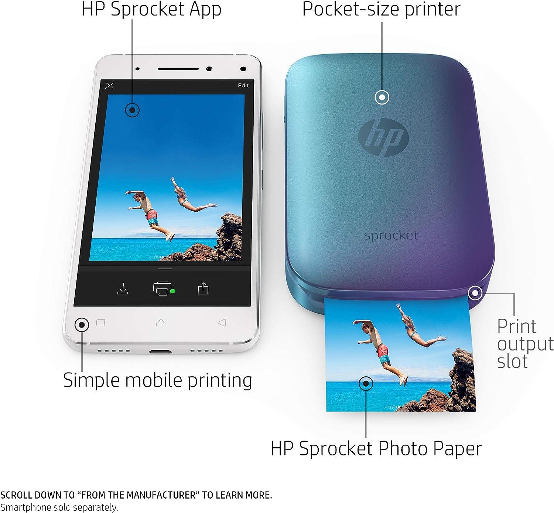 Amazon.com: Impresora de fotos portátil HP Sprocket ...
