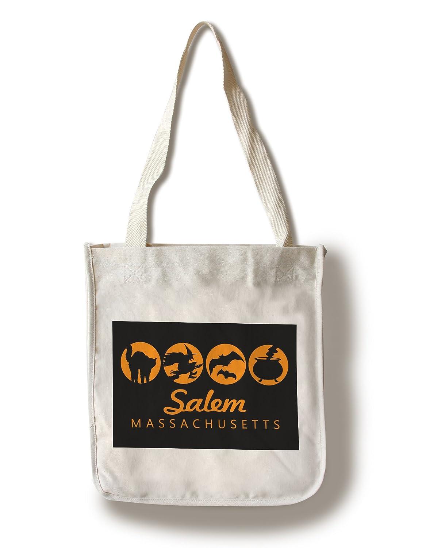 (Canvas Tote Bag) - Salem, Massachusetts - Halloween Quad (100% Cotton Tote Bag - Reusable) B01MYAGOHN  Canvas Tote Bag