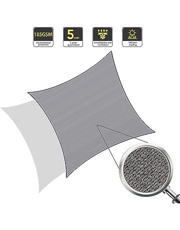 Firlar 8 x 8 x 8 ft Triangular Sun Shade Canopy Sail Waterproof Anti-UV Tent Awning for Patio Garden Outdoor Camping Summer