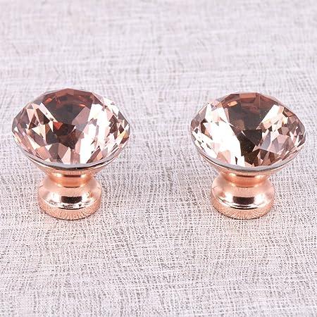 vita hardware dia 30mm special rose gold k9 crystal cabinet pulls