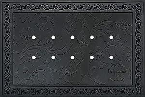 "Briarwood Lane Outdoor Rubber Doormat Tray for 18"" x 30"" Doormats Floral Design"