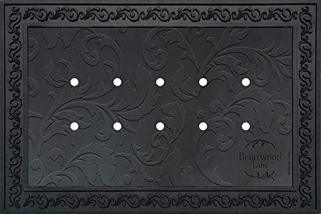 Briarwood Lane Outdoor Rubber Doormat Tray For 18 X 30 Doormats Floral Design Kitchen Dining Amazon Com