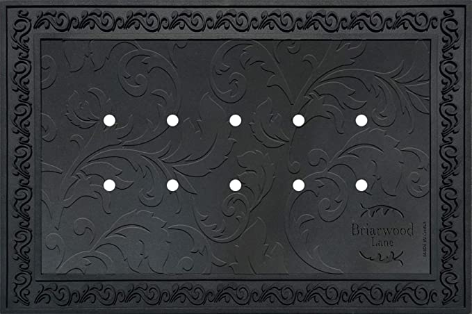 Briarwood Lane Outdoor Rubber Doormat Tray For 18 X 30 Doormats Floral Design Kitchen Dining