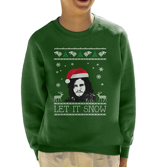 Let It Snow Jon Snow Christmas Game Of Thrones Kids Sweatshirt