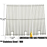 8MM Heavy Duty Stainless Steel Cooking Grates For Ducane 30400041, BBQ Galore XG4TBWN, Nexgrill 720-0584A, 720-0008-T, 720-033 and Perfect Flame 720-0335, 730-0335 and Turbo 4-Burner, 5-Burner, 720-0057-4B, 750-0058-4BRB, Gas Models, Set of 3