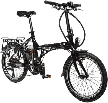 Kuo + Negro 36 V - bicicleta eléctrica plegable de alta calidad ...