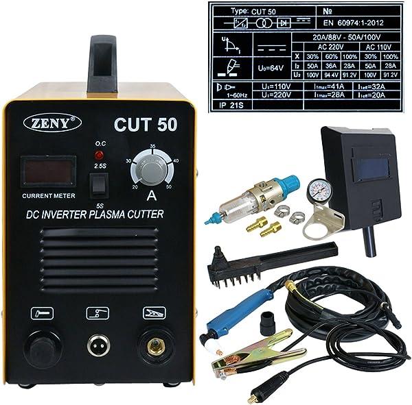 F2C 50 AMP Plasma Cutter CUT50 Welding Cutting Machine Digital Inverter 110/220V Dual Voltage Free Welding Mask Gauge