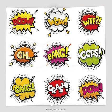 Custom Comic efectos de sonido en sonido POP ART Vector estilo Bubble Speech con palabra y