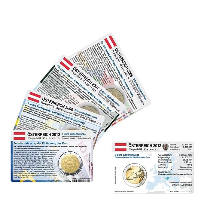 Set Alle Münzkarten Ohne Münze österreich Für 2 Euro