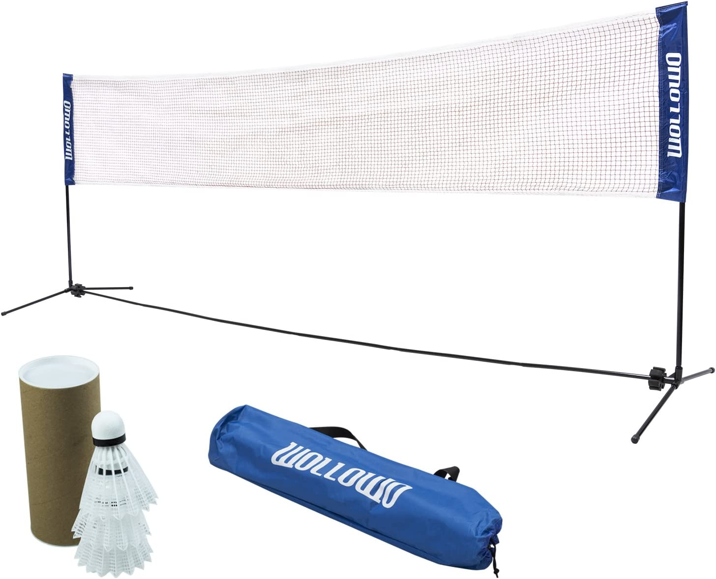 Wollowo 6 M pliable portable Badminton Tennis Volleyball Net Cadre Support