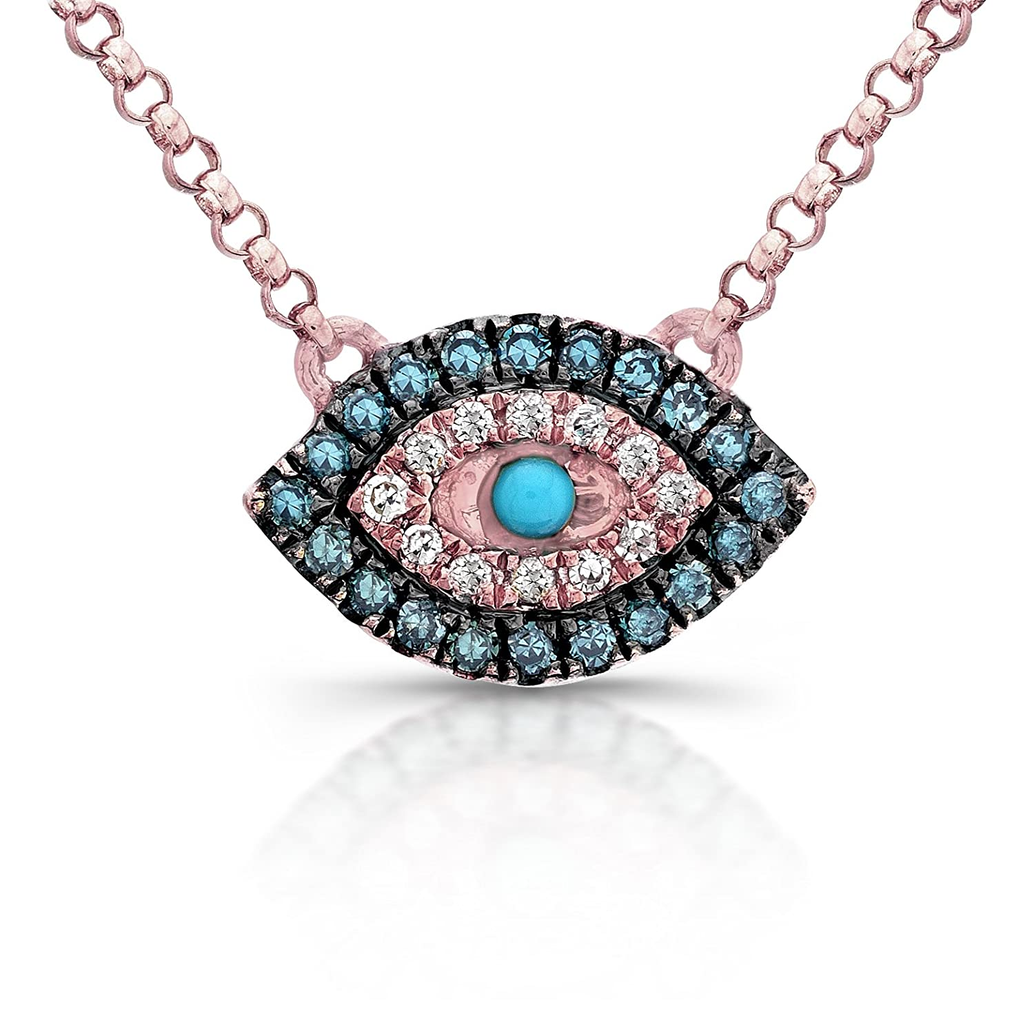 greed mix necklace john metal duo image strength crystal blue eye white evil swarovski women