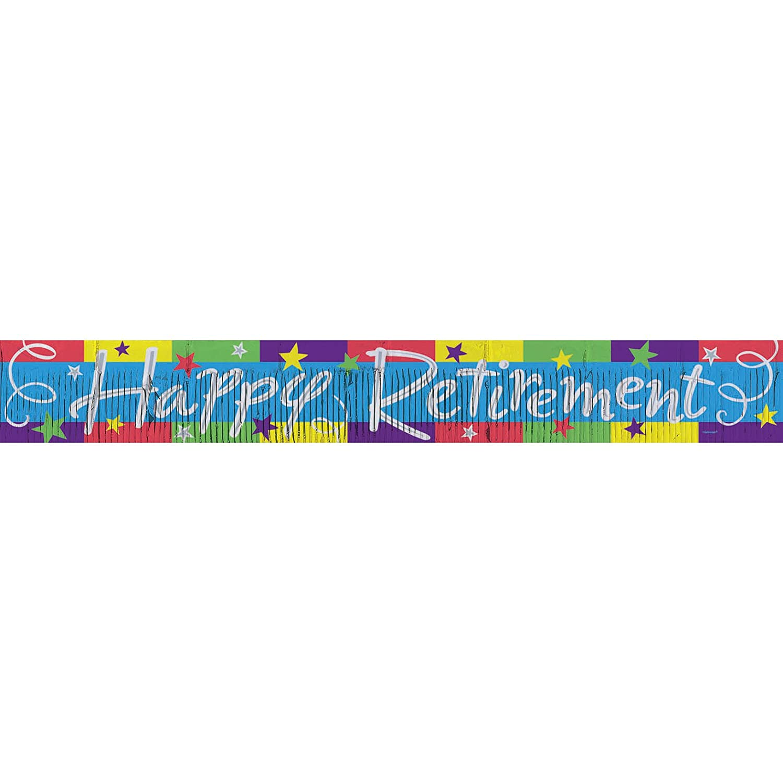 Happy Retirement Fringe Banner 2.4m   B001QF8X7K