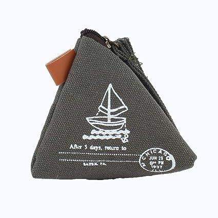 Mini lindo triángulo cierre de cremallera monedero clave ...