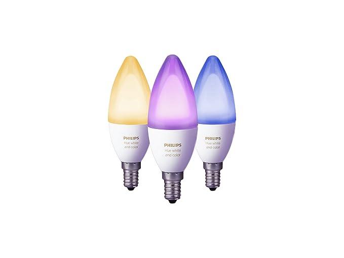 Philips hue white and color ambiance lampadine led attacco e14 6.5