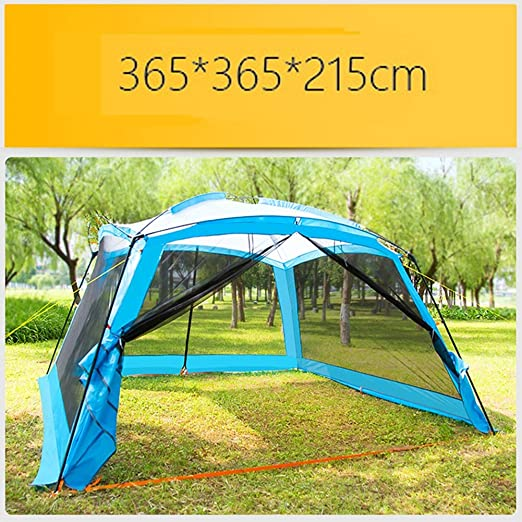 HHMGYH Pérgola al Aire Libre Camping 8-10 Persona Barbacoa Sun Shelter Portable Fold Beach Canopy Tienda a Prueba de Lluvia 365 * 365 * 215CM,B: Amazon.es: Jardín