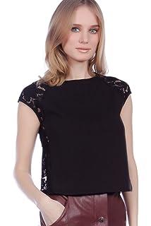 2d2c0bc8b76 Women s Lace Pom Pom Top  Amazon.co.uk  Clothing
