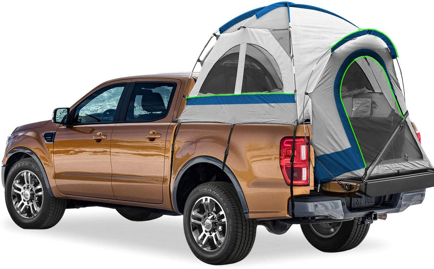 - Gray and Blue 2-Person Sleeping Capacity 66-70 Fits Full Size Truck with Short Bed North East Harbor Pickup Truck Bed Camping Tent Includes Rainfly and Storage Bag 5.5-5.8