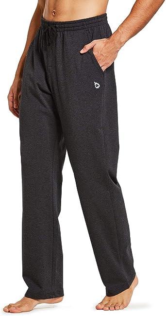 Pantalones de entrenamiento para hombre de algod/ón con bolsillos laterales y traseros BALEAF
