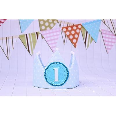 Pittitus corona cumpleaños de tela 1 cumpleaños bebé y niños
