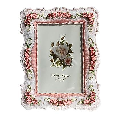 Amazon European Style Vintage Picture Frames Rose Pattern 4x6