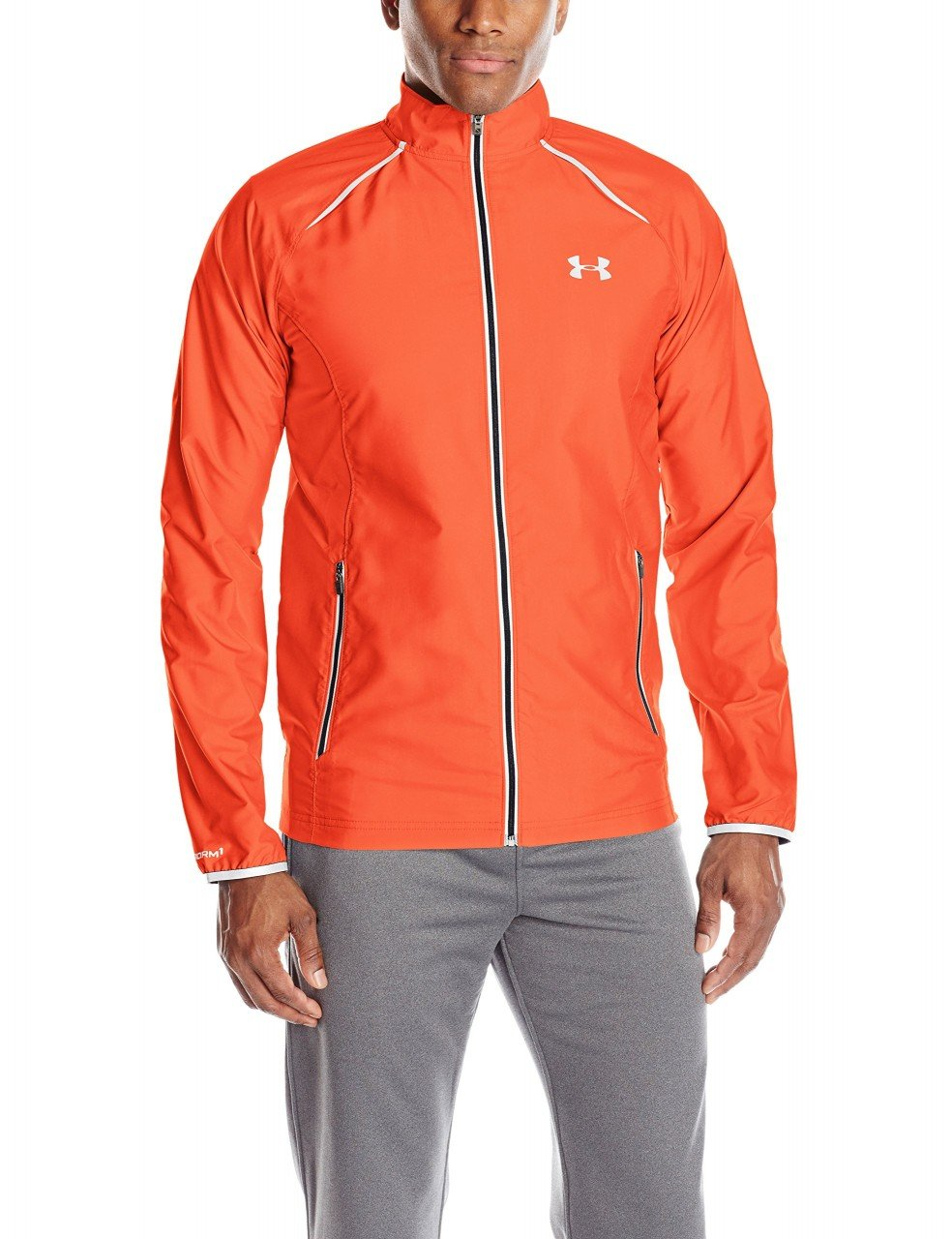 Under Armour Men's Storm Launch Run Jacket, Rocket Red (984)/Reflective, Small