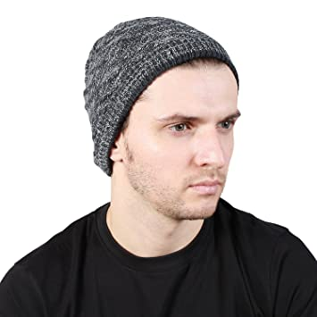6260a67f464 Noise Textured Grey-White Slouchy Beanie Cap  Amazon.in  Sports ...