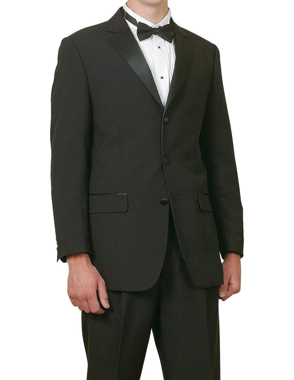 New Mens 5 Pc Complete Black Tuxedo Suit Jacket Pants Shirt