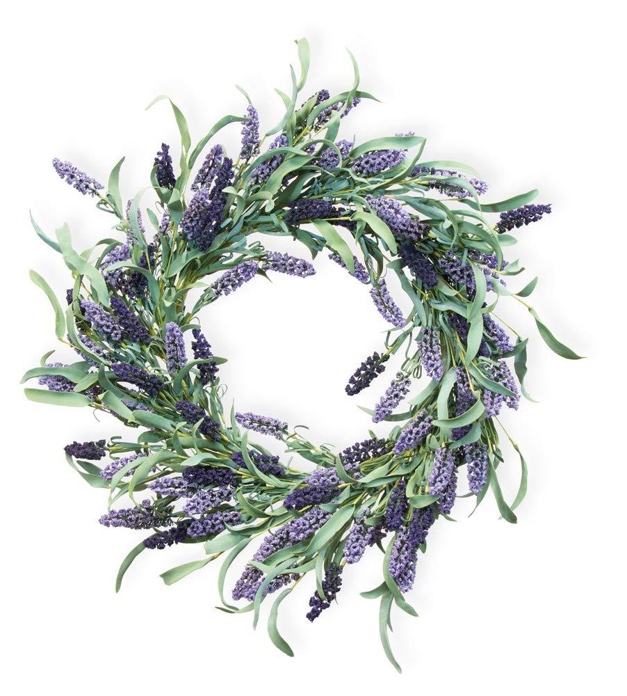 Boston International Decorative Wreath 20-Inches Lovely Lavender