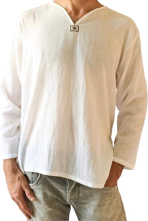 V-neck hippie cotton shirt