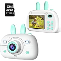 """2NLF Cámara para Niños 1080P 2.4"""" LCD Cámara de Fotos Digital para Niños con Tarjeta de Memoria Micro SD 32GB Cámara…"""