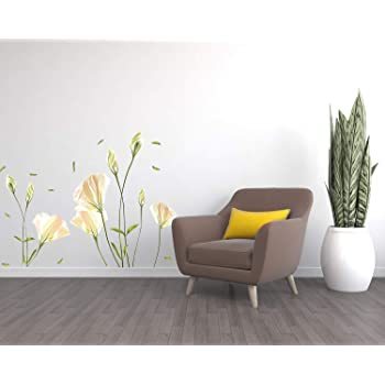 Flower wall stickers lilly wall decal flower vinyl wall dcor white flower wall decals peel and stick flower wall stickers lilly wall decal flower vinyl wall dcor white flower wall mightylinksfo