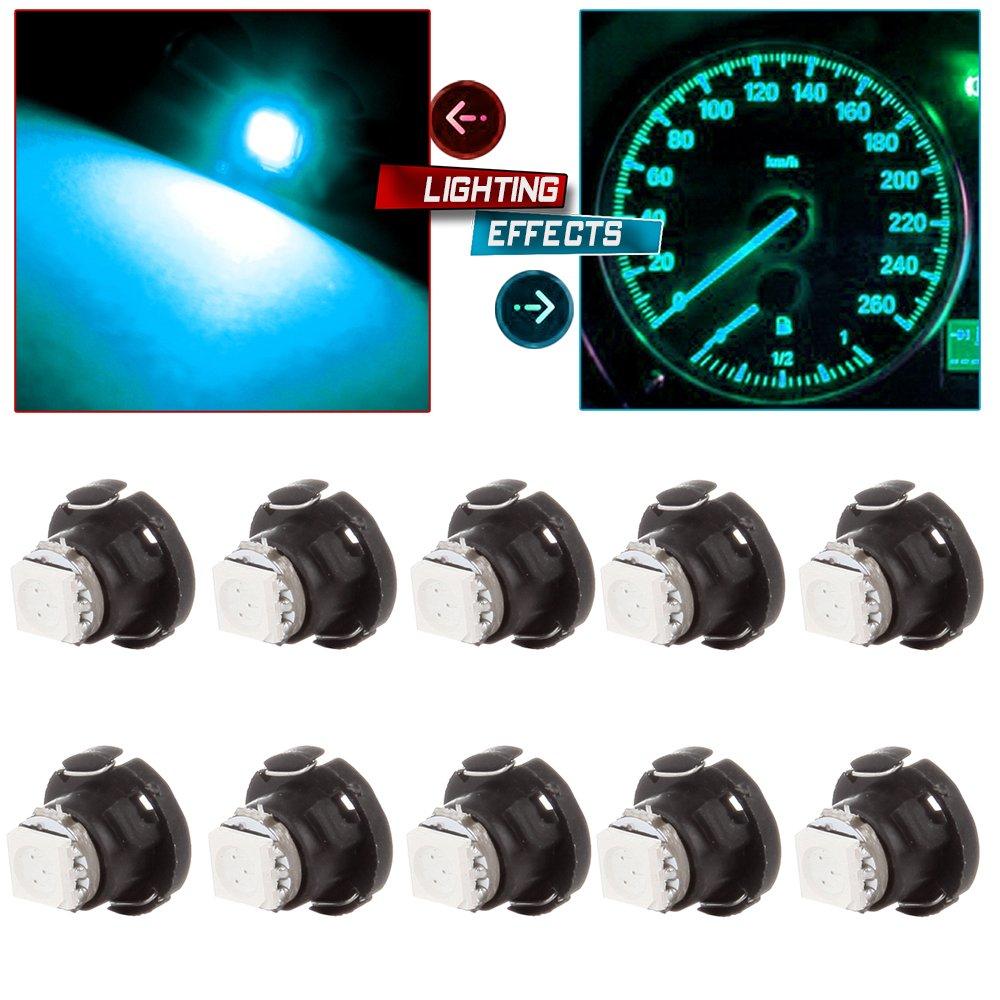 cciyu T5/T4.7 12mm Neo Wedge A/C Climate Control Light Instrument Panel LED Bulbs by cciyu